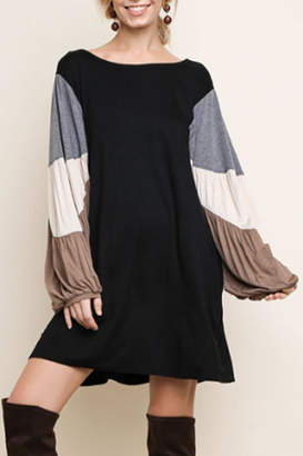Umgee USA Color-Block Sleeved Dress