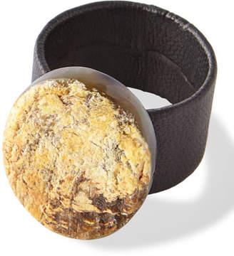 Deborah Rhodes Horn Leather Cuff Napkin Ring