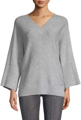DKNY Oversize V-Neck Sweater