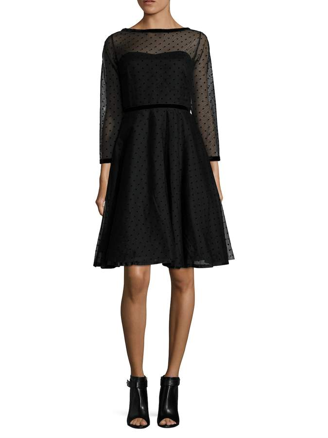 Marc by Marc Jacobs Women's Polka Dot Tulle Flared Dress