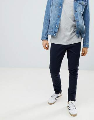 Next Skinny Fit Chinos In Navy