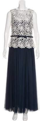 Tadashi Shoji Lace-Accented Maxi Dress