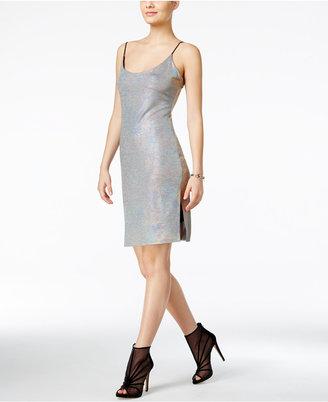GUESS Ziggy Metallic Slip Dress $79 thestylecure.com