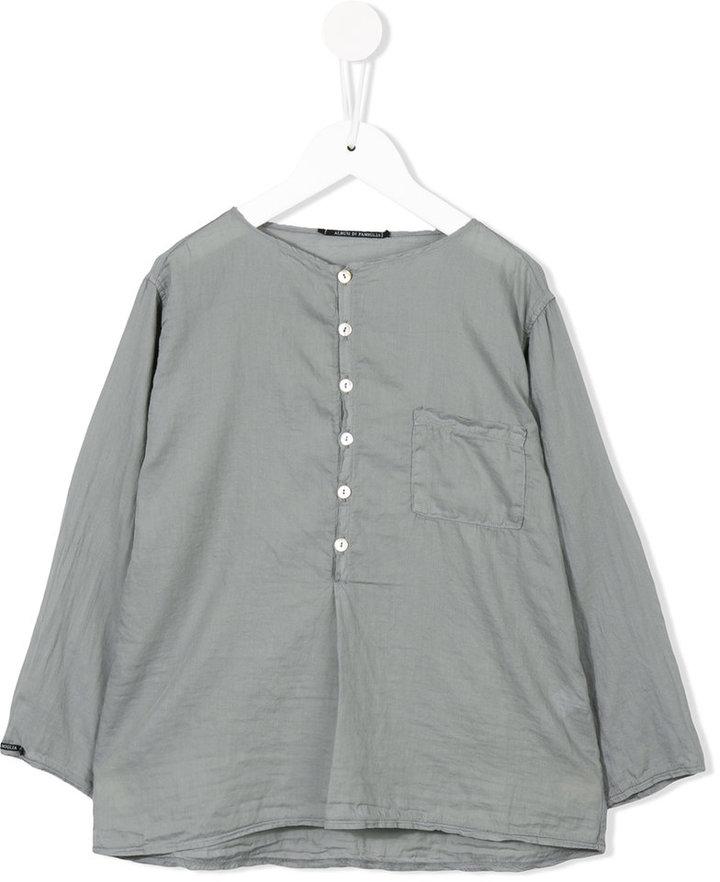 Album Di Famiglia Kids buttoned collarless blouse