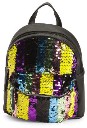 Rainbow Stripes Sequins Mini Backpack