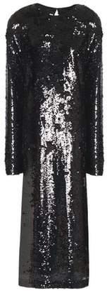 McQ Sequined Tulle Midi Dress