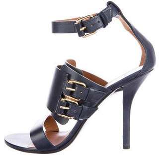 Givenchy Buckle-Accented Leather Sandals