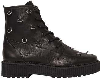 Katy Perry 30mm Patti Piercing Leather Combat Boots