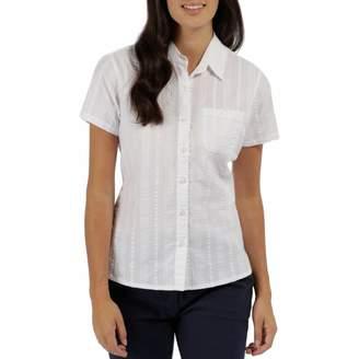 Women's White Cotton Jerbra Shirt