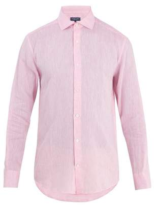 Frescobol Carioca - Point Collar Linen Shirt - Mens - Pink