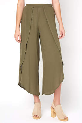 Olivaceous Printed Wrap Pant