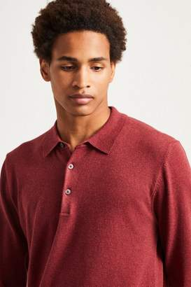 French Connenction Stretch Cotton Long Sleeved Polo Shirt