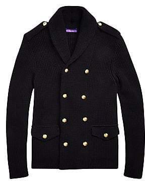 Ralph Lauren Purple Label Men's Admiral Double-Breasted Knit Jacket