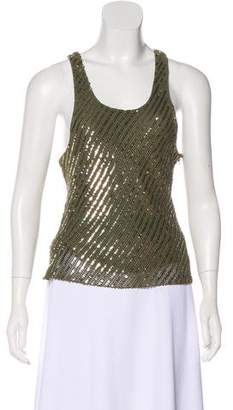 Gryphon Striped Sequin Top