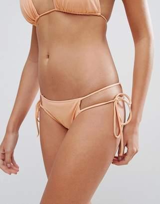 d635d793b8 Hot As Hell Nude Tie Side Bikini Bottom