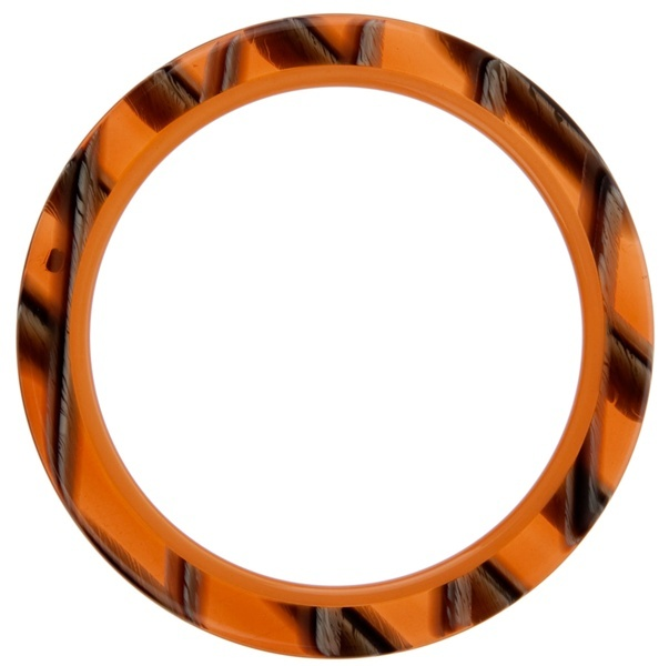 DEROME BRENNER - Orange tortoise shell bracelet
