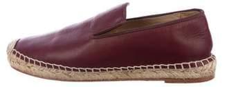 Celine Leather Espadrille Flats