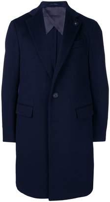 Lardini single-breasted fitted coat