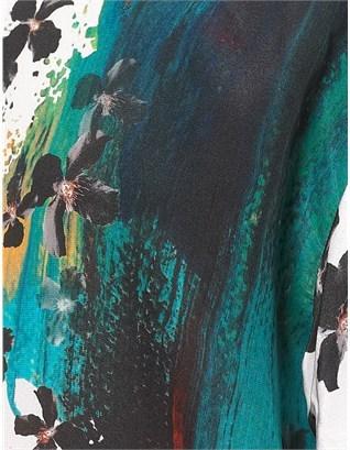 Peter Som Painter Floral Silk Top