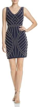 Aqua Beaded Mini Dress - 100% Exclusive