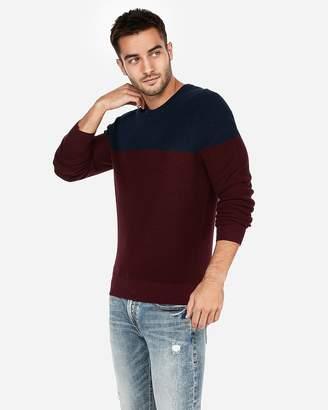 Express Color Block Crew Neck Sweater
