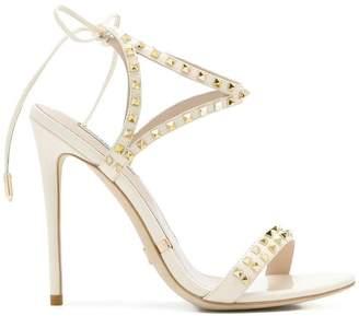 Gianni Renzi rockstud tie sandals
