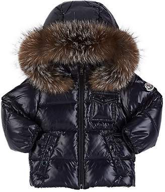 Moncler Infants' Fur-Trimmed Down-Quilted Hooded Coat
