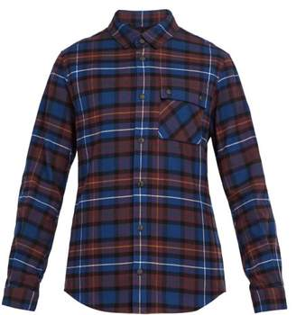 Aztech Mountain Loge Peak Plaid Cotton Flannel Shirt - Mens - Burgundy