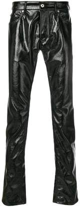 Just Cavalli patent leather trousers