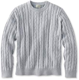 L.L. Bean Double L Cotton Sweater, Cable Crewneck