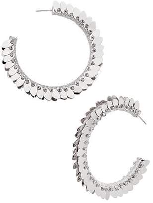 BaubleBar Fiona Feather-Effect Hoop Earrings