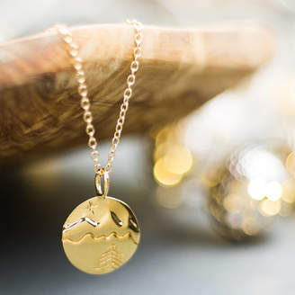 Lulu + Belle Mountain Necklace In Gold Or Silver