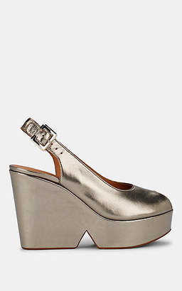 Clergerie Women's Dylan 2 Metallic Leather Platform Sandals - Gold