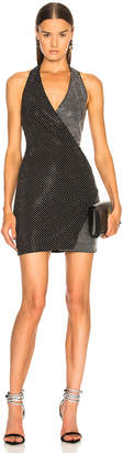 Balmain Crystal Embellished Halter Mini Dress