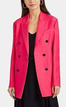 Valentino Women's Silk-Wool Double-Breasted Blazer - Pink
