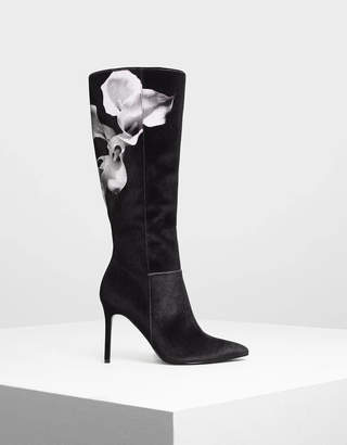 Charles & Keith Classic Pointed Knee Boots