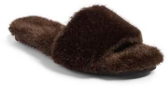 Joshua Sanders Faux Fur Slide Sandal