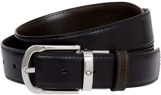 Montblanc Reversible Leather Horseshoe Belt