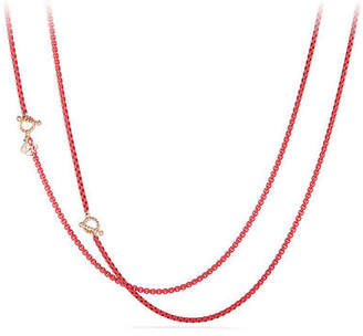 David Yurman Bel-Aire Adjustable Enamel Chain Necklace, 41""