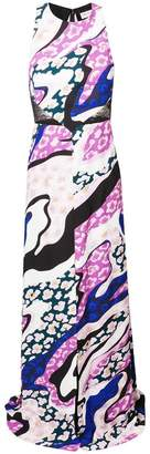 Emilio Pucci lace detail maxi dress