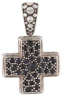 John Hardy Black Sapphire Cross Pendant