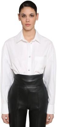 Alexandre Vauthier Cotton Poplin Shirt W/jewels Buttons