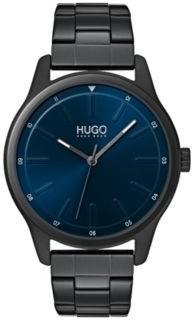 HUGO Link-bracelet watch with blue dial