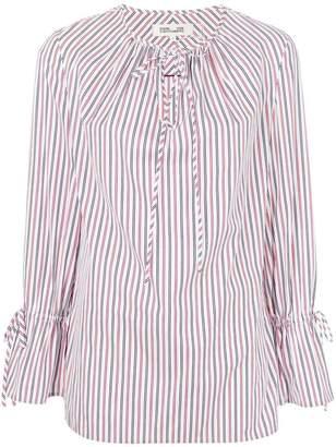 Dvf Diane Von Furstenberg tie neck striped blouse