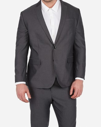 Express Classic Charcoal Gray Oxford Cotton Suit Jacket
