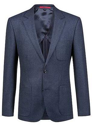 HUGO BOSS Extra-slim-fit jacket in micro-structure virgin wool