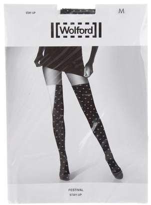 Wolford Stay-Up Patterned Tights w/ Tags