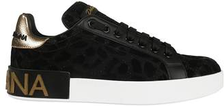 Dolce & Gabbana Leopard Lace-up Sneakers