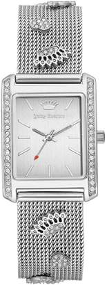 Juicy Couture Women's Swarovski Crystal Accented Mesh Bracelet Watch, 23mm x 33mm