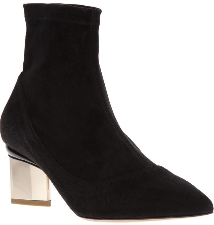 Nicholas Kirkwood contrast heel boot